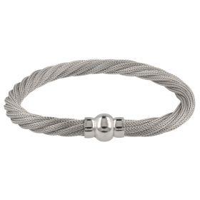 Bracciale a rete intrecciata in argento | Gioiello Italiano