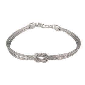 Silver mesh bracelet with knot