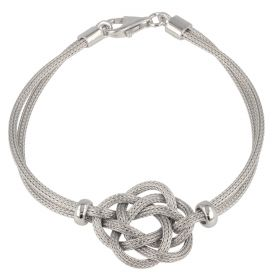 Silver mesh bracelet with weave | Gioiello Italiano