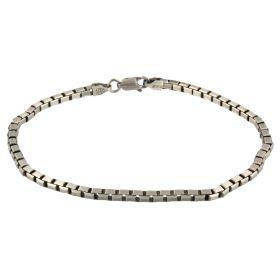 Box chain silver bracelet | Gioiello Italiano