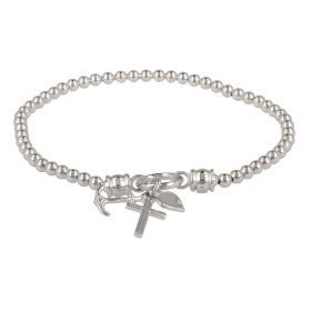 "Elastic bracelet ""Faith, Hope, Charity"" in silver"