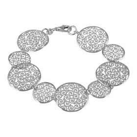 Bracelet with 925 sterling silver circles | Gioiello Italiano