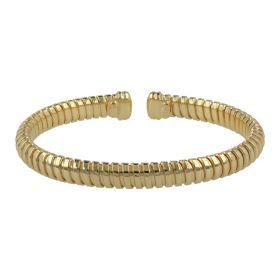 Rigid gas tube silver bracelet | Gioiello Italiano