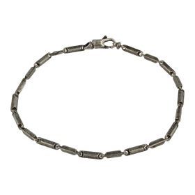 Men's dowel bracelet in antiqued silver | Gioiello Italiano