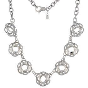 "Small ""Atom"" silver necklace"