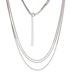 Triple korean silver necklace