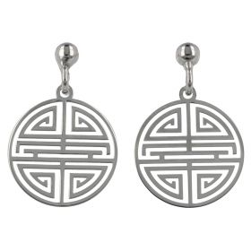 """Greek"" rounded silver earrings | Gioiello Italiano"