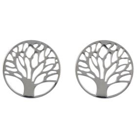 """Tree of Life"" silver earrings"