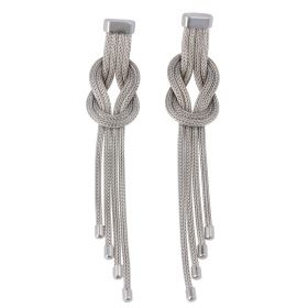 "Silver mesh ""Embrace"" earrings"