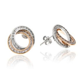 """White and pink gold earrings """"Nodo d'Amore"""""""