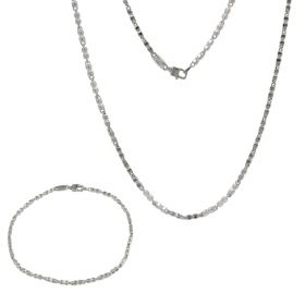 Men's lightweight 14kt white gold set | Gioiello Italiano