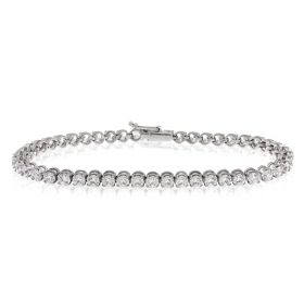 White gold tennis bracelet with 48 zircons | Gioiello Italiano