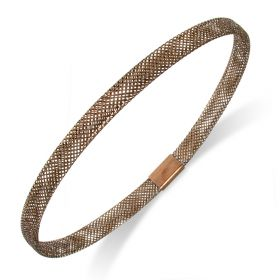 Bracciale a maglia fine in oro 14kt bronzé