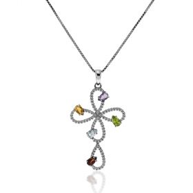 Big cross silver necklace | Gioiello Italiano