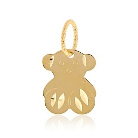 "14kt yellow gold ""Teddy"" pendant"