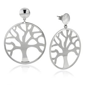 """Tree of Life"" 925 silver earrings 