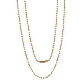 Collana lunga con perline in oro giallo 18kt | Gioiello Italiano