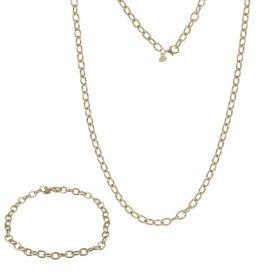 Parure con anelli vuoti in oro giallo | Gioiello Italiano