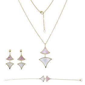 White and pink mother-of-pearl set | Gioiello Italiano