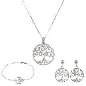 """Tree of Life"" silver set"