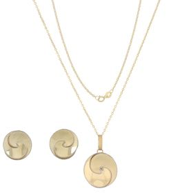 "14kt gold ""Vortex"" set"