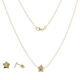 14kt yellow gold star jewelry set