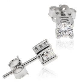 18kt white gold earrings with zircons