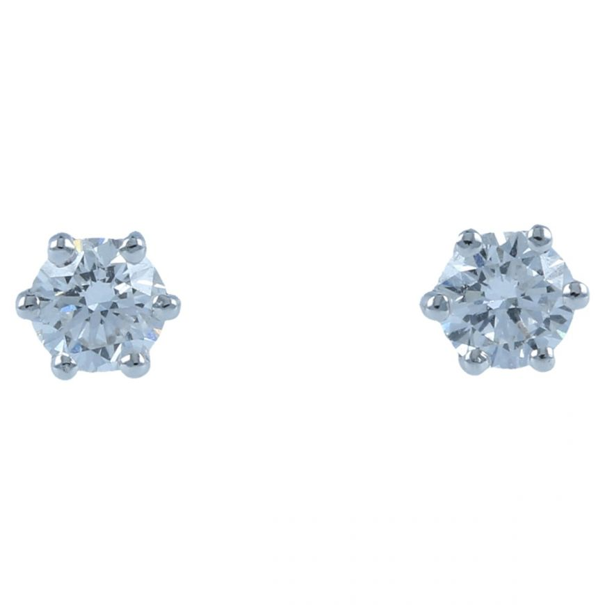 White gold point light earrings with 0.48ct diamonds | Gioiello Italiano