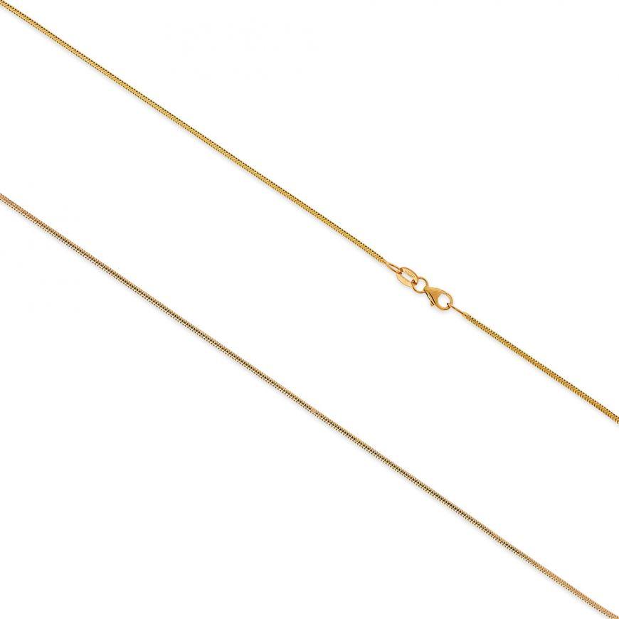 Catena coda di topo in oro giallo 14kt | Gioiello Italiano