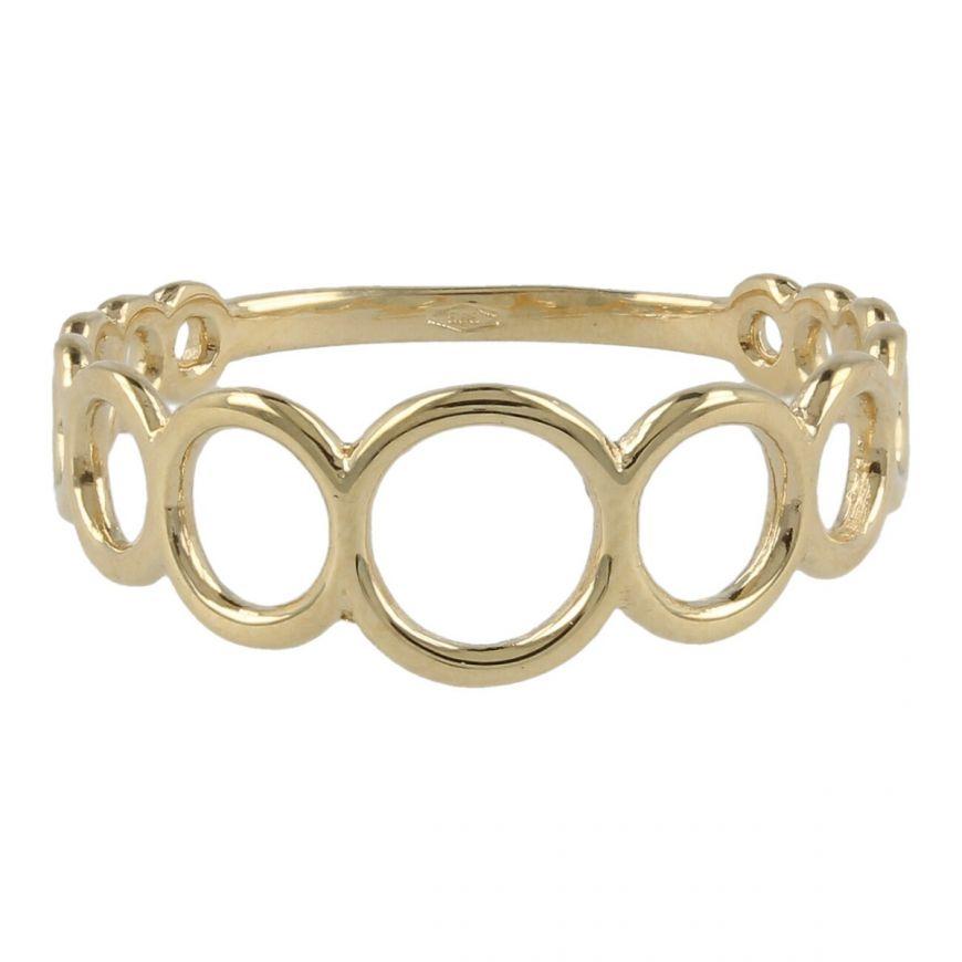 Anello con cerchi in oro giallo   Gioiello Italiano