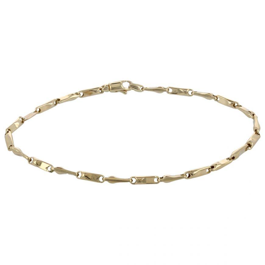 14kt yellow gold chain bracelet | Gioiello Italiano