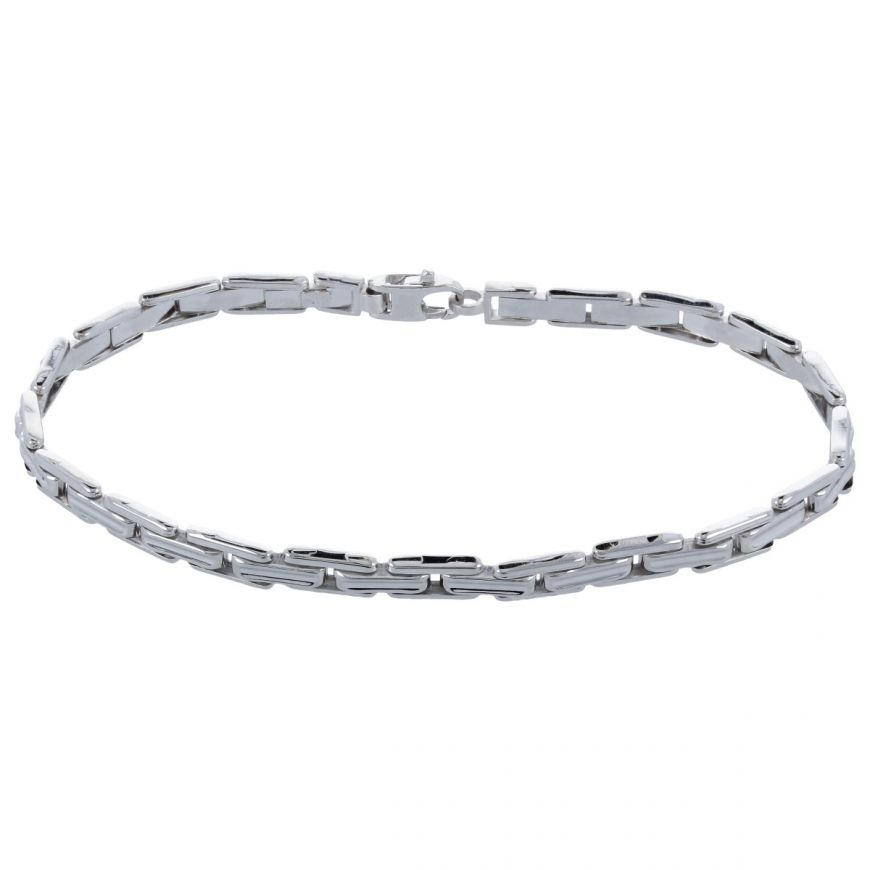 14kt white gold band bracelet | Gioiello Italiano