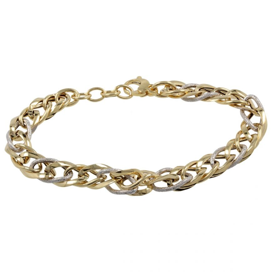 14kt yellow and white gold bracelet | Gioiello Italiano