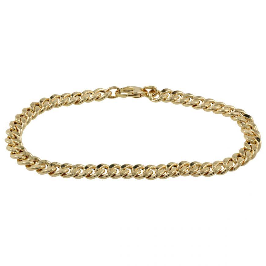 14kt yellow gold curb bracelet | Gioiello Italiano
