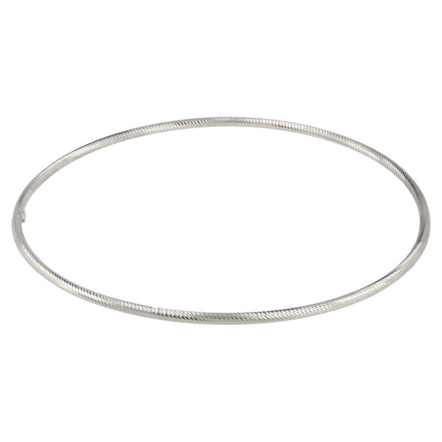 Thin white gold bangle bracelet | Gioiello Italiano