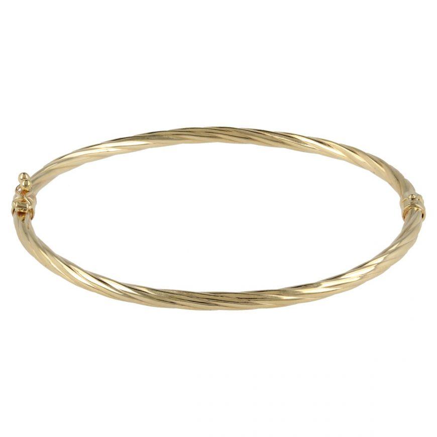 Bracciale rigido ovale in oro 14kt | Gioiello Italiano