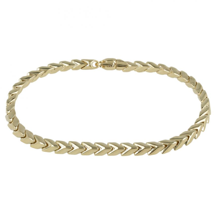 "Men's bracelet in yellow gold ""Snake""   Gioiello Italiano"