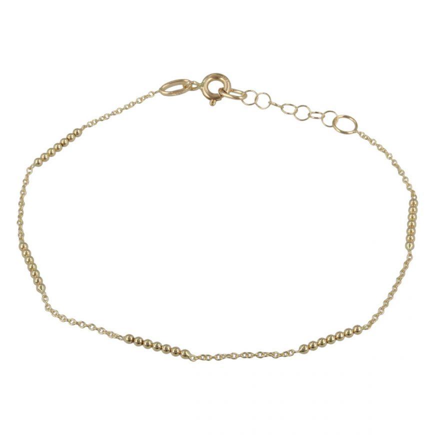Bracciale sottile con perline in oro giallo   Gioiello Italiano