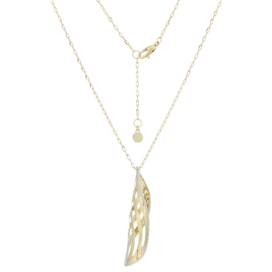 "Yellow gold ""Ringlet"" necklace 