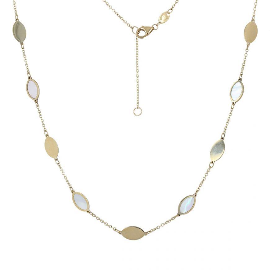 Collana in oro giallo 14kt con madreperla | Gioiello Italiano