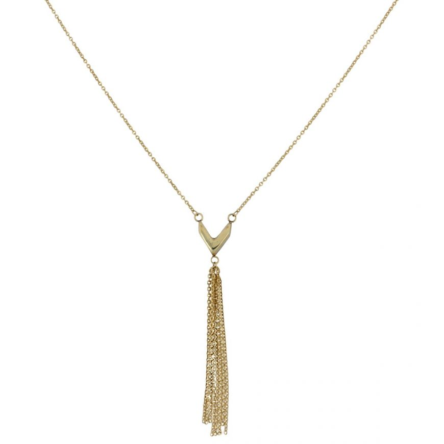 Adjustable 14kt yellow gold necklace   Gioiello Italiano