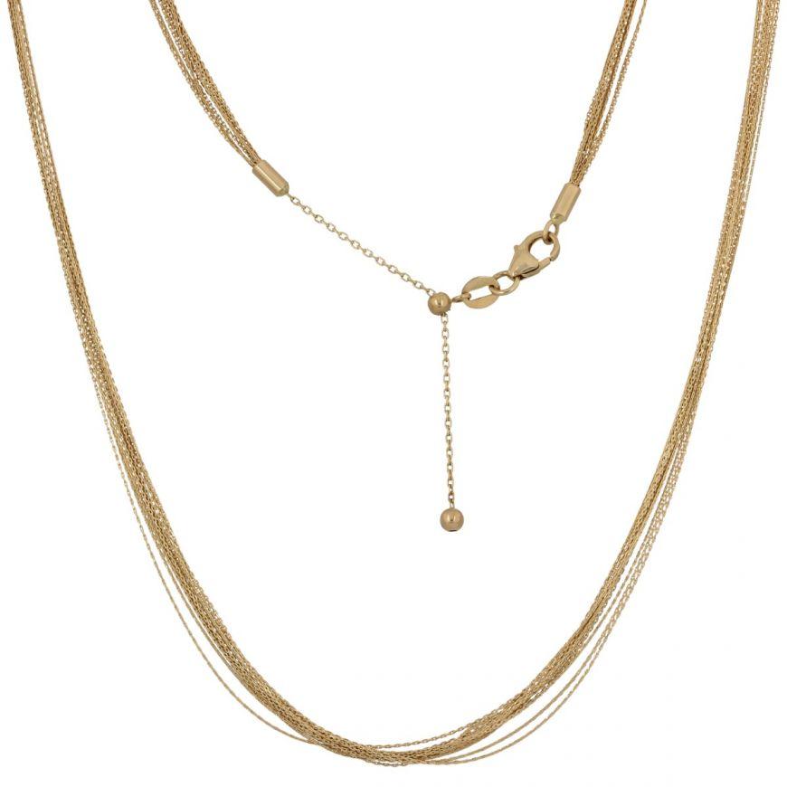 14kt yellow gold multiwire necklace | Gioiello Italiano