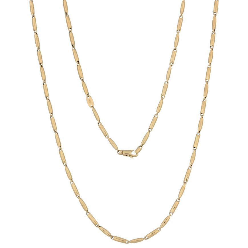 Men's 14kt yellow gold chain | Gioiello Italiano