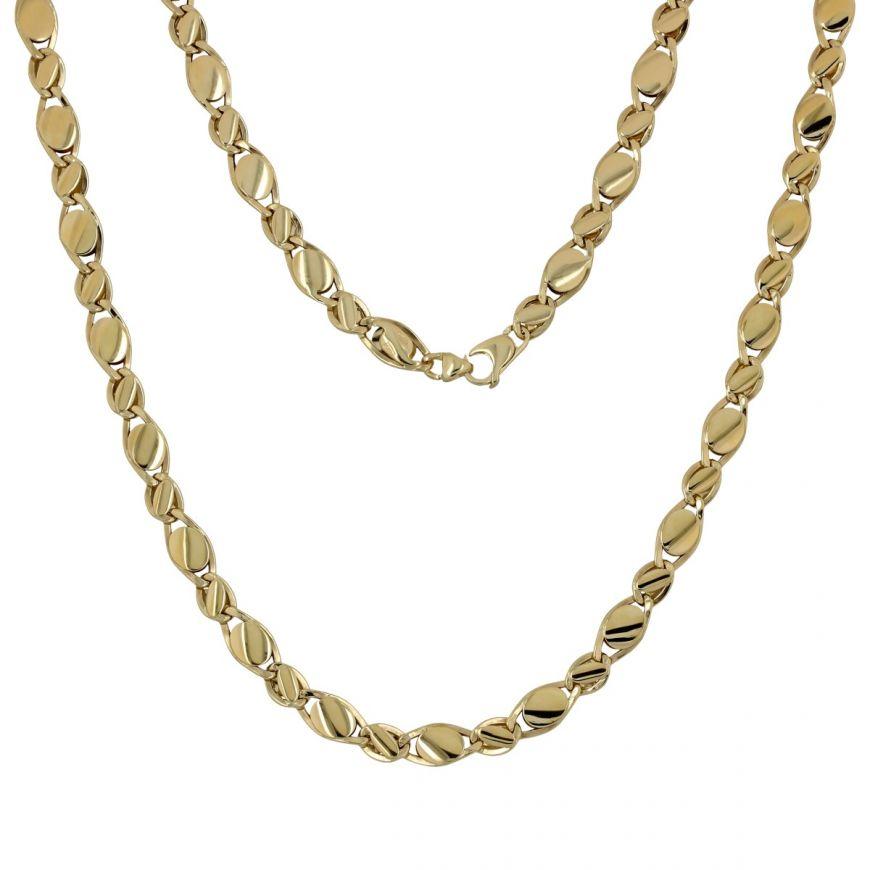 14kt yellow gold ovals chain | Gioiello Italiano