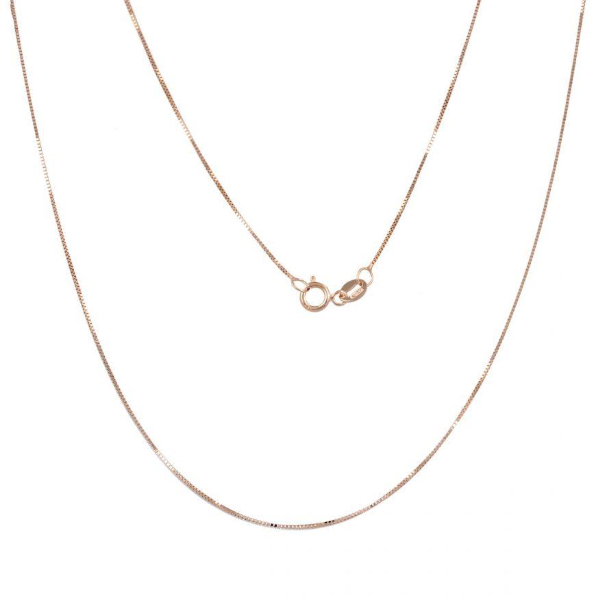 Rose gold box chain | Gioiello Italiano