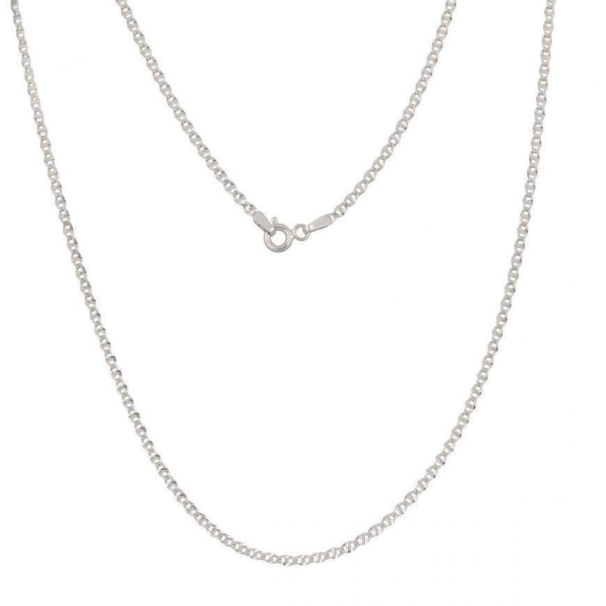 14kt white gold anchor chain | Gioiello Italiano