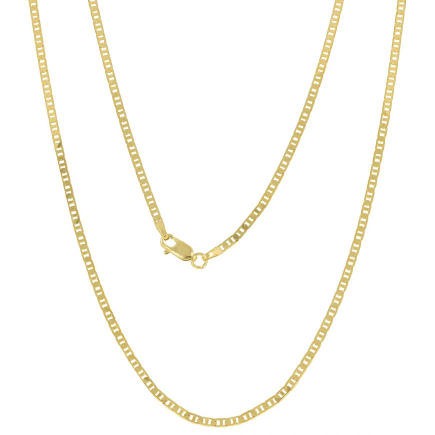14kt yellow gold anchor chain | Gioiello Italiano