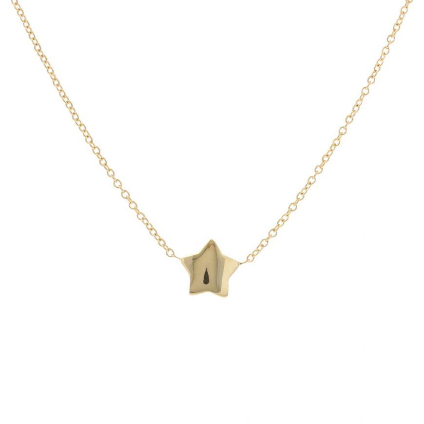 14kt yellow gold star necklace | Gioiello Italiano