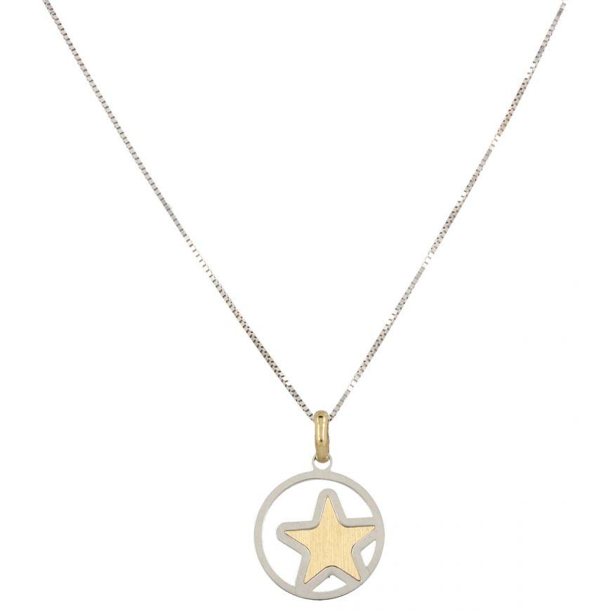 14kt gold necklace with star pendant | Gioiello Italiano