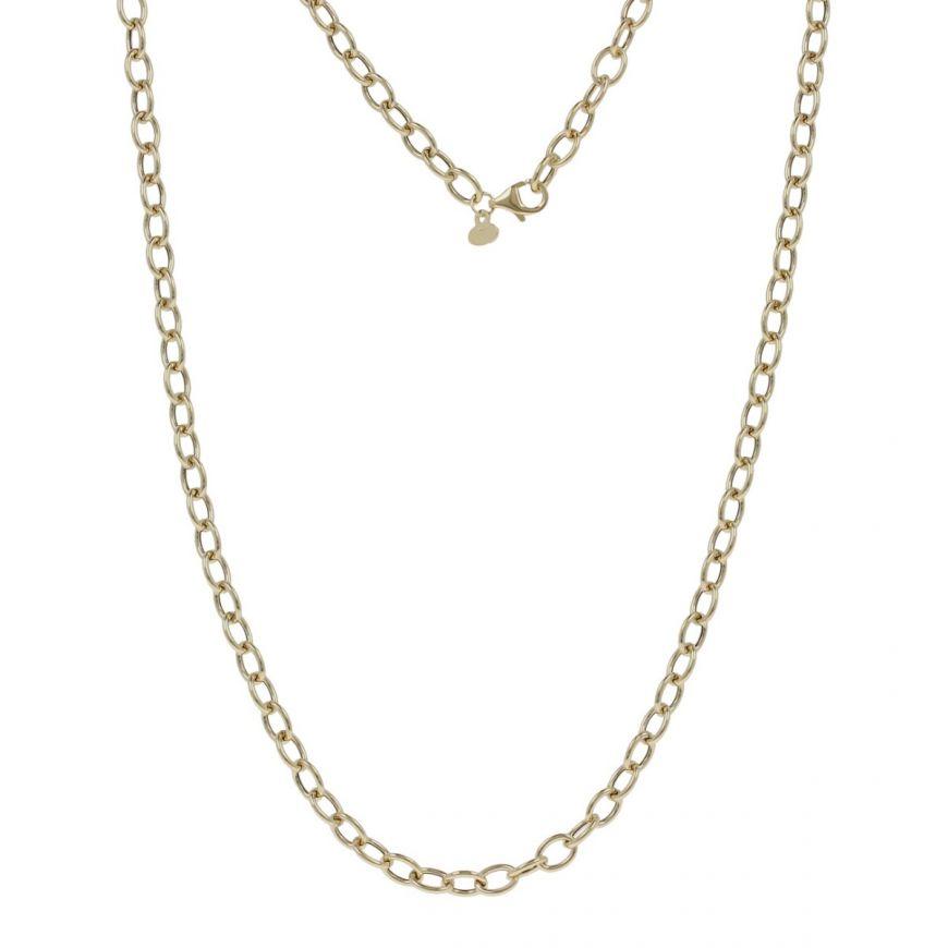 Collana con anelli vuoti in oro giallo | Gioiello Italiano